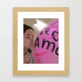 inflate love Framed Art Print