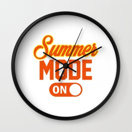 Summer Mode ON yo Wall Clock