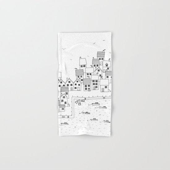 Harbour sketch Hand & Bath Towel