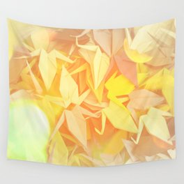 Senbazuru | shades of yellow Wall Tapestry