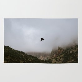 Free as a bird flying through the mountains, Big Bend - Landscape Photography Rug