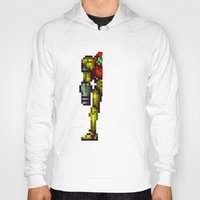 metroid Hoodies featuring Metroid by Slippytee Clothing