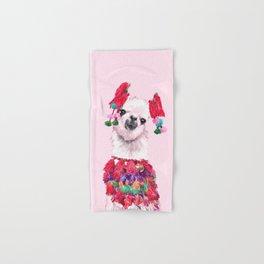 Llama in Colourful Costume Hand & Bath Towel