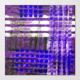 Street Plaid-Ultra Blue Canvas Print