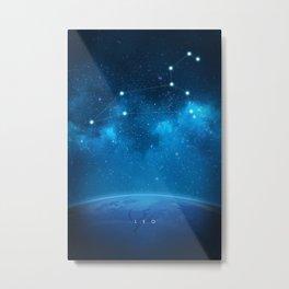 Leo: Astrological Art Metal Print