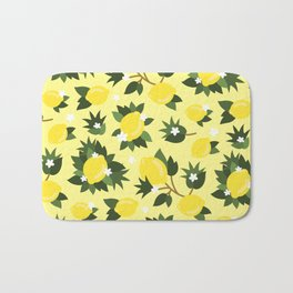 Summer Lemons - Cute Pattern Bath Mat