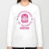 xmen Long Sleeve T-shirts featuring Bad Boy Club: Brotherhood of Mutants  by Josh Ln