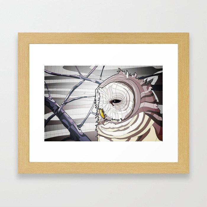 Owl Winter Framed Art Print