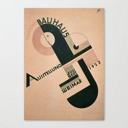 Vintage Germany, 1923 Bauhaus Poster Canvas Print