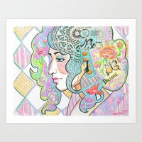 shabby chic Art Prints featuring Shabby Chic by Thea Maia