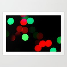 Christmas Bokeh Art Print