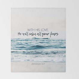 He Will Calm All Your Fears Throw Blanket