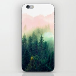 Watercolor mountain landscape iPhone Skin