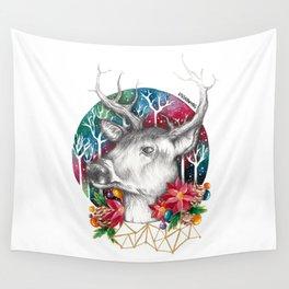 Christmas Reindeer / Deer Painting Drawing Wall Tapestry