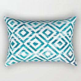 Geometric Watercolor Rectangular Pillow