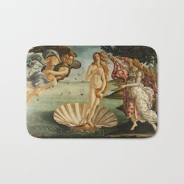 The Birth of Venus - Nascita di Venere by Sandro Botticelli Bath Mat