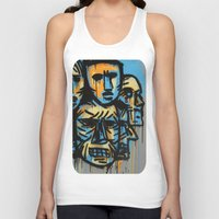 talking heads Tank Tops featuring Heads by andres lozano