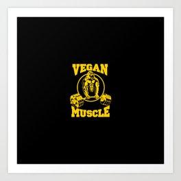 Vegan Muscle Art Print