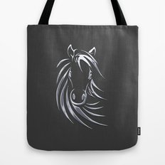 Silver Horse Tote Bag