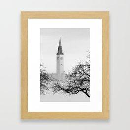 """The Grosse Pointe Yacht Club in Wintery Fog"" Framed Art Print"