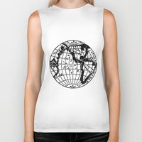 globe Biker Tanks featuring Globe by Gallymogger Print