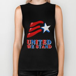 United We Stand - Patriot/Independence Day Biker Tank