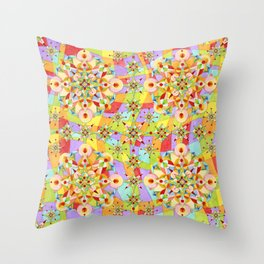 Rainbow Sparkles Throw Pillow