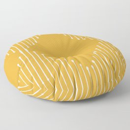 Geo / Yellow Floor Pillow