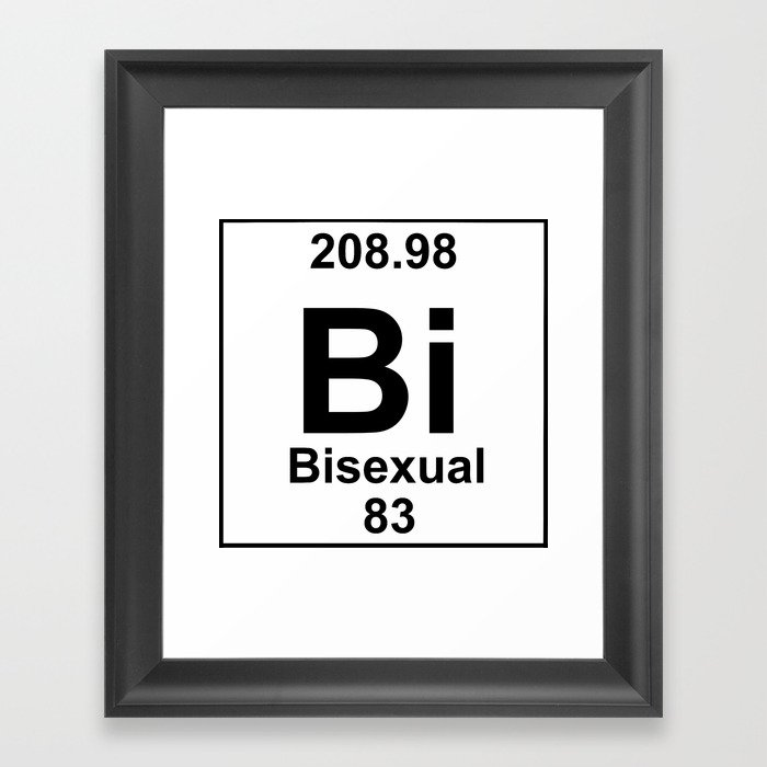 Periodic Table Bisexual Framed Art Print By Brightestwitch Society6