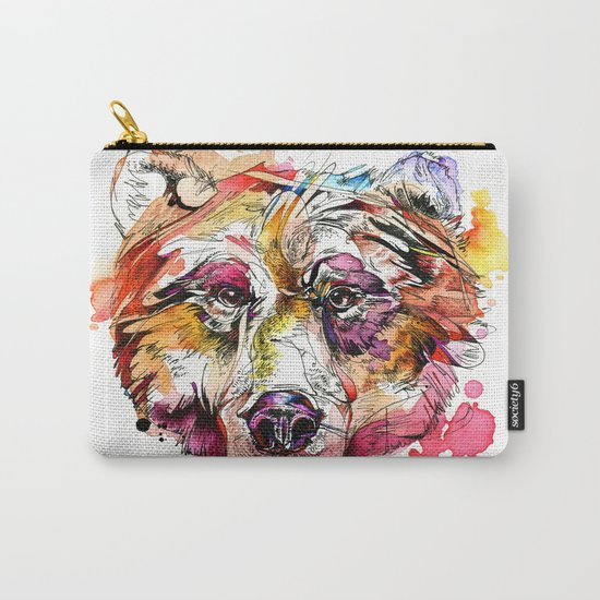 Vivid Grizzly Carry-All Pouch