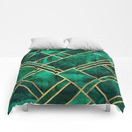 Emerald Blocks Comforters