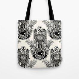 Hamsa Hand Elephant Tote Bag
