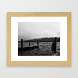 Fog Over the Lake Framed Art Print