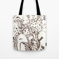 Paper and Pen Tote Bag
