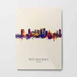 West Palm Beach Florida Skyline Metal Print