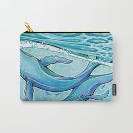 Whale - Mixed Media Illustration Carry-All Pouch