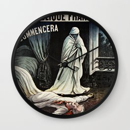 Assassin PHANTOM - Ghost with Knife 1880 - Le Fantome  Wall Clock