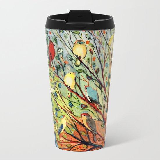 27 Birds Metal Travel Mug