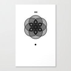 Mesh Geometry II White Canvas Print