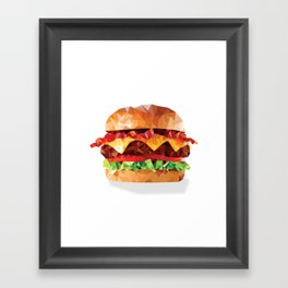 Geometric Bacon Cheeseburger Framed Art Print