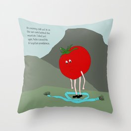 the untold loneliness of silent agony. Throw Pillow