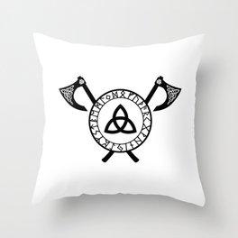 Norse Axe - Celtic Knot Throw Pillow