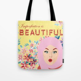 Imperfection is BEAUTIFUL (Yellow) Tote Bag