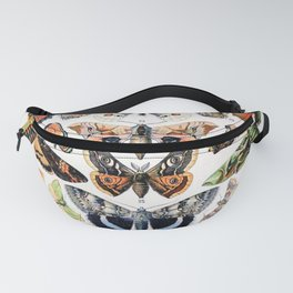 Adolphe Millot - Papillons A - French vintage poster Fanny Pack