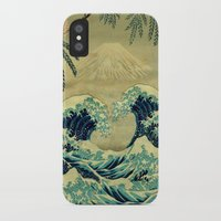 blanket iPhone & iPod Cases featuring The Great Blue Embrace at Yama by Kijiermono