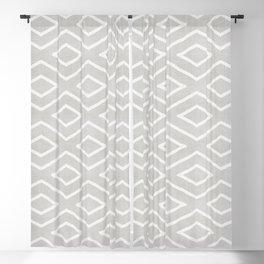 Stitch Diamond Tribal Print in Grey Blackout Curtain