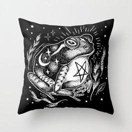 BLACK TOAD Throw Pillow