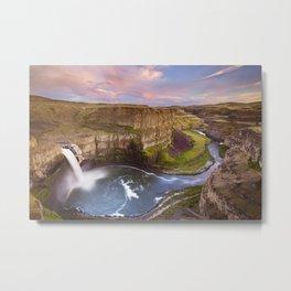 II - Palouse Falls in Washington, USA at sunset Metal Print