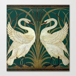 Walter Crane's Swan, Rush, Iris Canvas Print