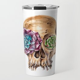 Blooming skull Travel Mug